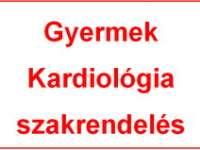 Gyermek Kardiológia szakrendelés