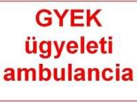 GYEK ügyeleti ambulancia